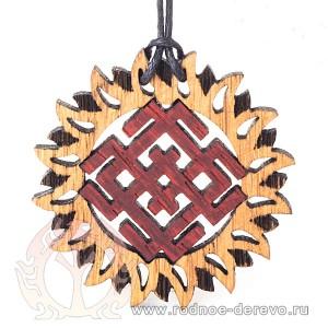 Символ Белбога из дерева